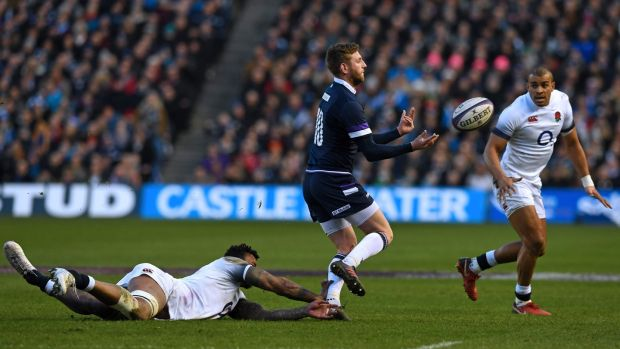 Finn Russell inspired Scotland to victory over England. Photograph: Paul Ellis/AFP