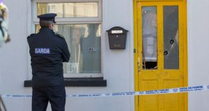 Garai at the scene in Connolly Street, Sligo, where the body of a young man was found. Photograph: James Connolly