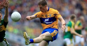 Eoin Cleary inspired Clare to victory over Down. Photograph: Donall Farmer/Inpho