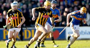Kilkenny's Richie Leahy in action against Tipperary. Photograph: James Crombie/Inpho