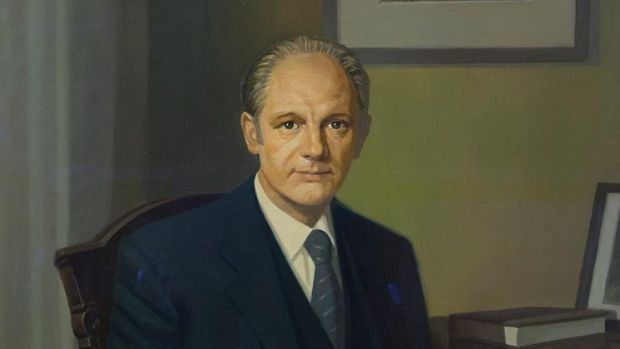 Political portraits: Peter Dwan said the painting of Jack Lynch was very calming