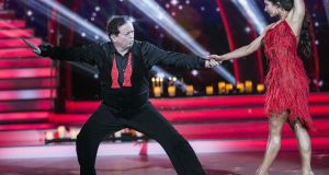 End of the Marty party: Marty Morrissey and Ksenia Zsikhotska were sent packing by the judges. Photograph: Kyran O'Brien/RTÉ
