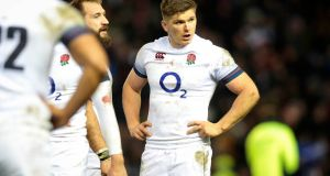 Owen Farrell was allegedly involved in a tunnel bust-up between England and Scotland players before the Calcutta Cup at Murrayfield. Photo: Ryan Byrne/Inpho