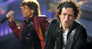 Keith Richards and Mick Jagger of The Rolling Stones play at Slane Castle in 2007. Photograph: Kate Geraghty/ The Irish Times