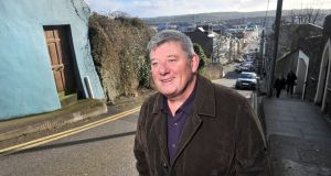 Broadcaster John Creedon  on Patrick's Hill, overlooking Cork city centre. Photograph:  Daragh Mc Sweeney/Provision