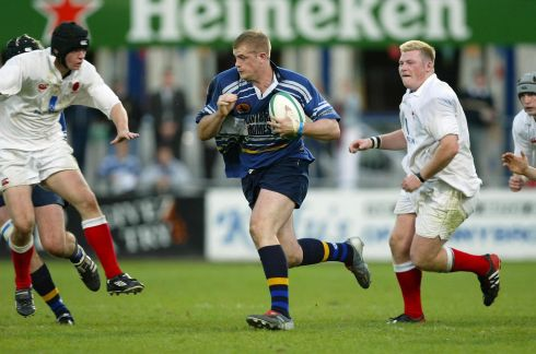 A fresh faced Heaslip in Under-21 Interprovincial action for Leinster against Ulster. Photograph: Patrick Bolger/Inpho