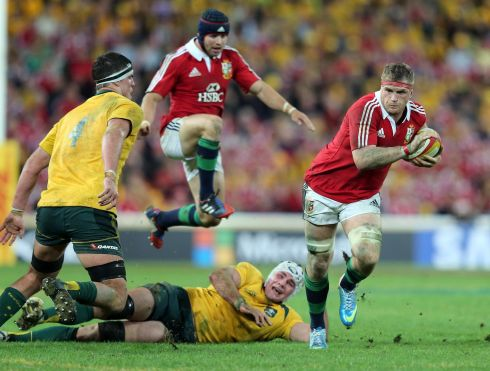 On Lions duty again, in the first Test against Australia in 2013. Photograph: Dan Sheridan/Inpho