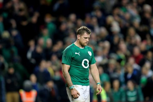 A dejected Heaslip after Ireland's agonising defeat to the All Blacks in 2013. Photograph: James Crombie/Inpho