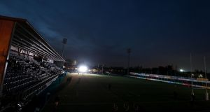 Donnybrook after the flood lights temporarily went out on Friday night. Photograph: Dan Sheridan/Inpho