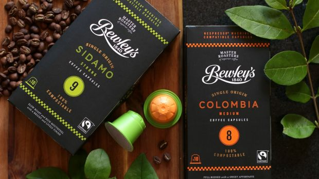 Bewley's 100 per cent compostable coffee capsules can go straight into brown bins
