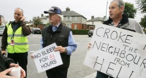 Croke Park area residents protesting earlier plans to hold additional concerts in the venue. Photograph: Cyril Byrne