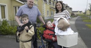 Niamh and Gerry Ryan from Portlaoise and their twin boys Sean and Liam