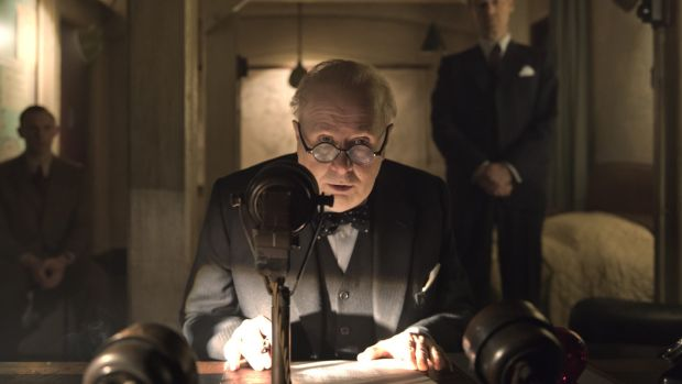 "Gary Oldman in ""Darkest Hour"". Photograph: Jack English"