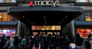 The Broadway entrance to Macy's Herald Square store  in Manhattan, New York. Photograph:   Reuters/Andrew Kelly