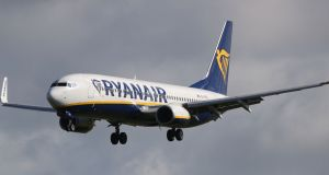 Budget airline Ryanair is to close its base at Glasgow Airport. File photograph: Niall Carson/PA Wire