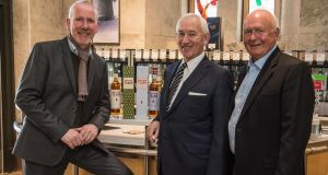 Bernard Walsh, managing director of Walsh Whiskey Distillery; Jan Westcott, chief executive, Association of Canadian Distillers, Spirits Canada; and Russell Woodman, chief executive, Woodman Wines & Spirits