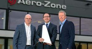 From left: John Drysdale, Business Development Manager Shannon Group; Sean O'Brien, Aero-Zone Director of Business Development, Europe; and Ray O'Driscoll, Managing Director Shannon Commercial Properties. Photograph: Arthur Ellis.