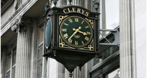 Clerys' clock on O'Connell Street, Dublin. Photograph: Dara Mac Dónaill/The Irish Times