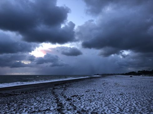 Greystones South Beach on Tuesday at 7am. Photograph: Beatrice Caffrey