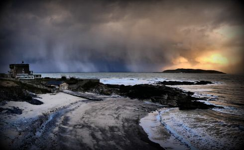 The Beast arriving north of Lambay Island  before dumping first snow at Portraine. Photograph: Eamonn Witter