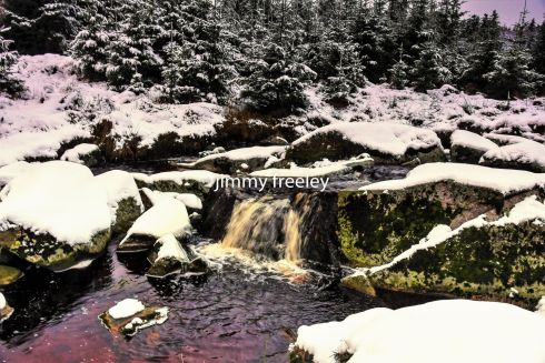 Snowy river scene on the Wicklow gap. Photograph: Jimmy Freeley