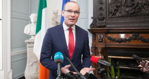 'This isn't trying to provoke. It is not trying to re-interpret':  Tánaiste  Simon Coveney. Photograph: Gareth Chaney Collins