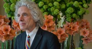 "Steven Pinker at the Shelbourne Hotel. ""People express discontent when asked about the state of their country, but when asked about their own fortunes they're not nearly as pessimistic."" Photograph: Brenda Fitzsimons"