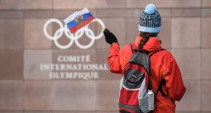 "A team of 168 Russians competed as part of a neutral ""Olympic Athlete from Russia"" team in Pyeongchang but two of them failed drug tests. Photograph: Fabrice Coffrini/AFP/Getty Images"