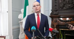 Tánaiste and Minister for Foreign Affairs and Trade Simon Coveney: the Government's preference is for the customs issue to be dealt with under a new EU-UK trade deal.  Photograph: Gareth Chaney/ Collins