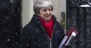 Prime minister Theresa May:  Brexit woes result from her chronic political weakness, some unfit people and the festering fissure of Conservative division on Europe. Photograph:  Alex Burstow/Getty Images