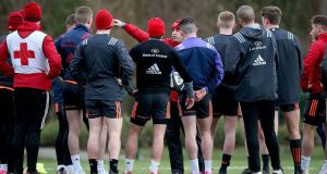 Munster's Pro14 meeting with Edinburgh has been postponed due to the bad weather. Photo: Ryan Byrne/Inpho