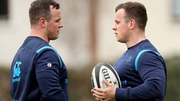 The Byrne twins during training last month. Photo: Oisin Keniry/Inpho