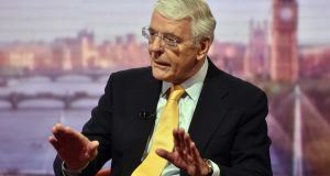 John Major. As British prime minister he put in the hours for peace in Northern Ireland. Photograph: Jeff Overs/BBC/PA Wire