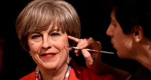 Madame Tussauds unveiled their new wax model of Britain's prime minister Theresa May in London last November Photograph: Dylan Martinez/Reuters