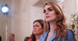 Hope Hicks: the White House communications director stepped down after testifying in Congress as part of the investigation of Russian interference in the 2016 election. Photograph: Mandel Ngan/AFP/Getty