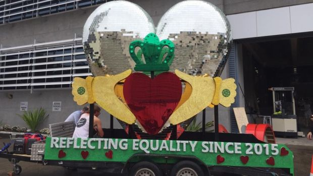 'Reflecting Equality Since 2015': Sydney Queer Irish float in the 2017 Mardi Gras