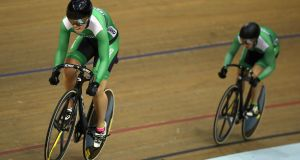 Robyn Stewart became the first Irish woman to compete in the women's sprint at the track world championships. Photograph: Bryn  Lennon/Getty