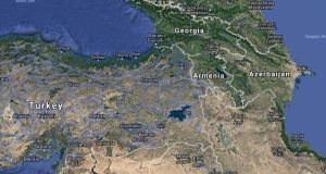 Armenia is situated in the Southern Caucasus region, between Turkey and Azerbaijan. It has difficult relations with both states. File photograph: Google Street View