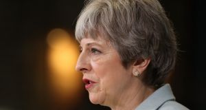 British prime minister Theresa May will on Friday give a key speech on Brexit in the City of London. Photograph: Christopher Furlong/PA Wire.