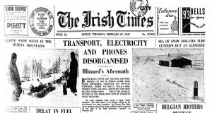 The Irish Times: Front page on February 27th, 1947