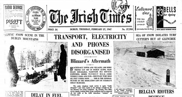 28929a8cc45e3 Big Snow 1947: Death, isolation and entire towns snowed in