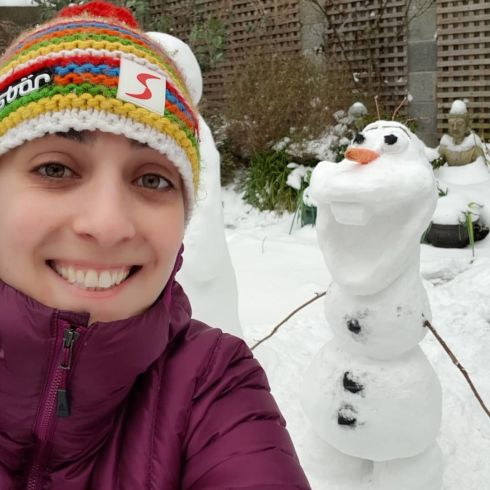 Want to build a Snowman? Rathfarnham, Dublin. Photograph: Sarah Maher