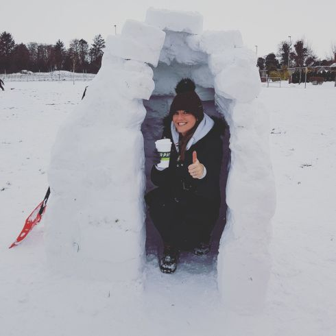 Living the igloo dream. Photograph: Sarah Watters