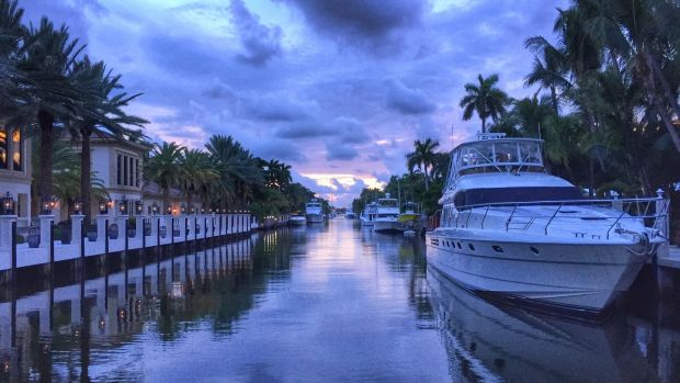 Fort Lauderdale is a collection of canals, which the locals sell as being the 'Venice of the US'. Photograph: Getty