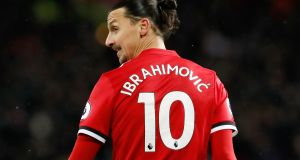 Jose Mourinho has said he expects Zlatan Ibrahimovic to leave Manchester United at the end of the season. Photo: Martin Rickett/PA Wire