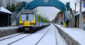 Sydney Parade Dart station, Sandymount, Dublin, earlier this week. Photograph: Frank Miller