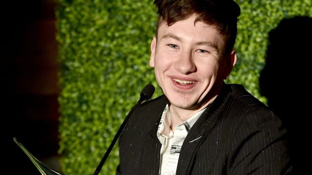 Barry Keoghan speaks onstage during the Oscar Wilde Awards 2018 at Bad Robot on March 1, 2018 in Santa Monica, California. Photograph: Alberto E. Rodriguez/Getty Images for US-Ireland Alliance
