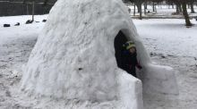 Building an igloo in Dublin's Fairview Park: 'We might put it on AirBnB'