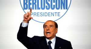 As Italian voters go to the polls, surveys suggest the 82-year-old former prime minister Silvio Berlusconi could emerge as kingmaker. Photograph: Alessandro Bianchi/Reuters