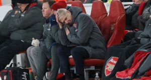 Arsene Wenger: all  the other so-called contenders have tried to live with City's version of enlightened management and furious spending. And all have been found wanting. Photograph: David Klein/Reuters